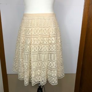 Nordstrom Champagne and Strawberry Skirt Sz M